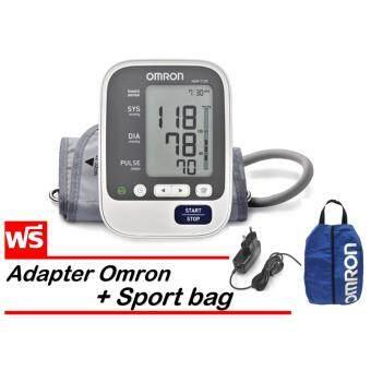 Omron เครื่องวัดความดันโลหิต รุ่น HEM-7130 (แถมฟรี Omron Adapter และ Sport bag )