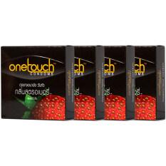 ขาย One Touch ถุงยางอนามัย รุ่นสตอเบอร์รี่ แพ็ก 4 ถูก ใน สมุทรปราการ