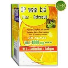 ส่วนลด Op Plus White Op Vit C 1000 Mg โอพี พลัส ไวท์ วิตามินซี ผสมคอลลาเจน ช่วยให้ผิวเต่งตึง มีน้ำมีนวล ผิวกระจ่างใส ช่วยให้ระบบภูมิคุ้มกันของร่างกาย มีความแข็งแรง ป้องกันภูมิแพ้ ไข้หวัด เซ็ต 1 กระปุก 1 กระปุก 30 แคปซูล Thailand