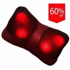 ซื้อ Orbia เบาะนวดไฟฟ้า หมอนนวดคอ สีแดง Orbia ถูก