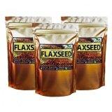 ขาย ซื้อ ออนไลน์ เมล็ดแฟลกซ์ อบ บดผง Organic Golden Flaxseed Meal ขนาด 200 กรัม 3 Packs สีทอง