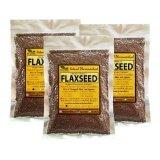 ราคา เมล็ดแฟลกซ์ สีน้ำตาล Organic Whole Brown Flaxseed ขนาด 200 กรัม 3 Packs ใหม่