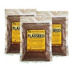 ราคา เมล็ดแฟลกซ์ สีน้ำตาล Organic Whole Brown Flaxseed ขนาด 200 กรัม 3 Packs ใหม่ ถูก