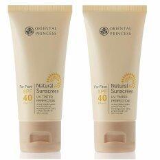 ซื้อ Oriental Princess ครีมกันแดดผิวหน้า Natural Sunscreen Uv Tinted Perfection Spf 40 Pa 50 G X 2 ชิ้น Oriental Princess เป็นต้นฉบับ