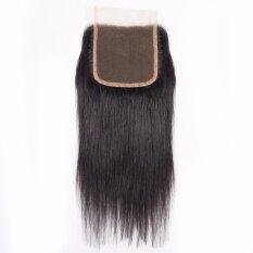 ราคา Originea Malaysian Virgin Hair 16 Inch 1 Piece 4X4 Lace Closure Free Part Straight Weave Human Hair Natural Black Color Intl ใหม่ล่าสุด