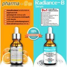 ซื้อ เซตคู่ Pharma C20 Radiance B เปลี่ยนหน้าพังให้ปัง ขาวใส ไร้สิว รักษารอยดำ รอยแผลสิว ฝ้ากระ กระชับรูขุมขน ใน กรุงเทพมหานคร