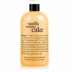 โปรโมชั่น Philosophy Vanilla Birthday Cake Shampoo Shower Gel Bubble Bath 480 Ml Philosophy