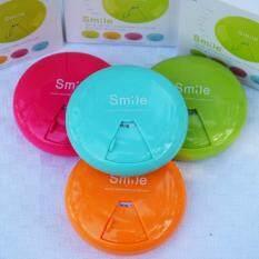 ขาย Pk Med ตลับใส่เม็ดยา Smile Candy 4 กล่อง สีฟ้า สีเขียว สีส้ม สีชมพู ถูก
