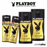ซื้อ เซ็ตสุดคุ้ม Playboy Vip Body Spray And Shower Gel Set เพลย์บอย วีไอพี บอดี้ สเปรย์ และเจลอาบน้ำ สำหรับผู้ชาย Play Boy เป็นต้นฉบับ