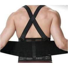 ขาย ซื้อ Plusslim Back Support Belt เข็มขัดพยุุงหลัง Support หลังเอวป้องกันบาดเจ็บยกของ สีดำ Size S