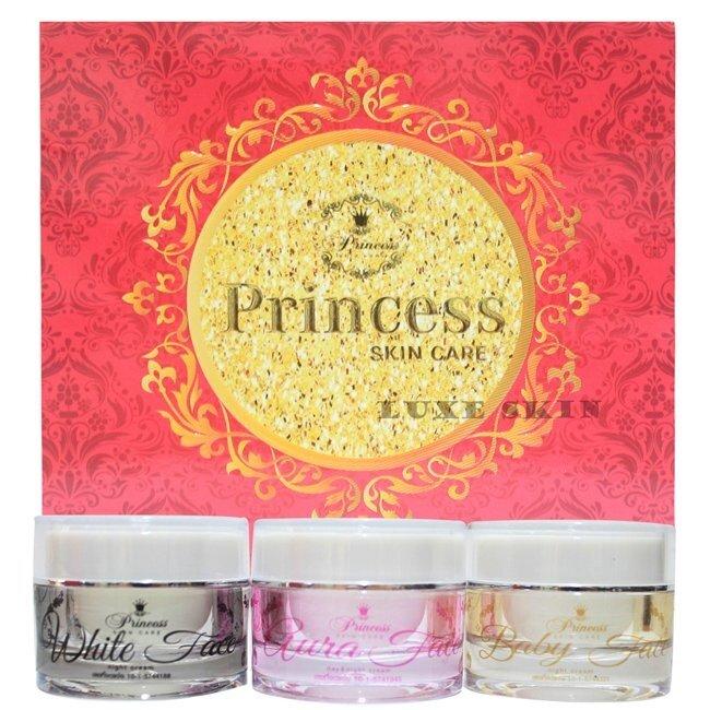 โปรโมชั่น ลดราคาส่งท้ายปี Princess Skin Care ครีม หน้าขาว/หน้าเงา/หน้าเด็ก แพ็คเกจใหม่ล่าสุด(1 เซ็ท 3 กระปุก) ดีจริง