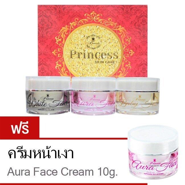 ใครเคยใช้ Princess Skin Care ครีมหน้าขาว ครีมหน้าเงา ครีมหน้าเด็ก (แถมฟรี! ครีมหน้าเงา (Aura Face) 10 g.) ครีมหน้าใสแบบเกาหลี