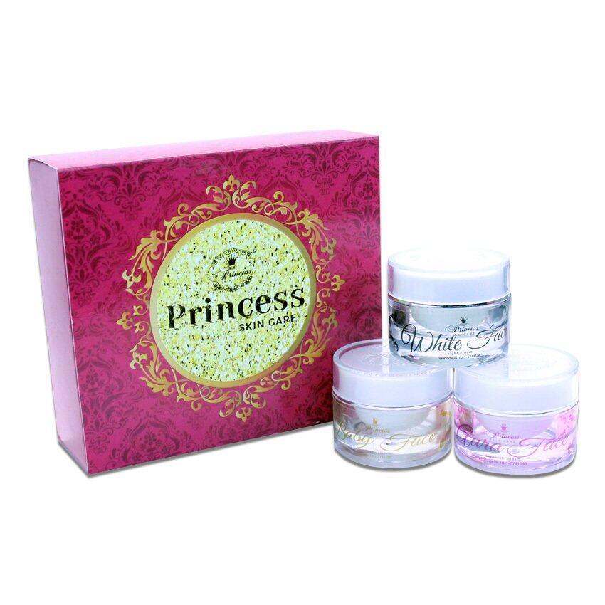 ใช้แล้วดีจริง ๆ ค่ะ Princess Skin Care ครีม หน้าขาว/หน้าเงา/หน้าเด็ก แพ็คเกจใหม่ล่าสุด (1 เซ็ท 3 กระปุก) หน้าขาวใสเป็นธรรมชาติ