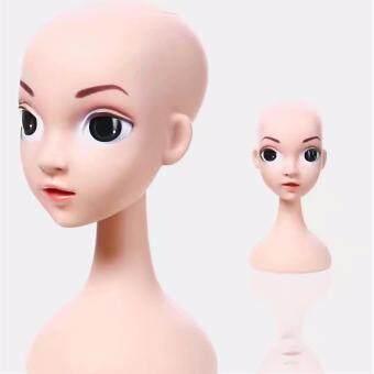 หัวหุ่นใส่วิกตาโต