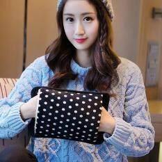 กระเป๋าน้ำร้อนไฟฟ้า คุณภาพดีที่สุดในท้องตลาด ชาร์ตได้ ร้อนไว สีดำลายจุด By Baobao-Perfect.