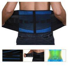 ราคา Savfy Adjustable Neoprene Deluxe Belt Double Pull Lumbar Lower Back Support Brace L Savfy ใหม่