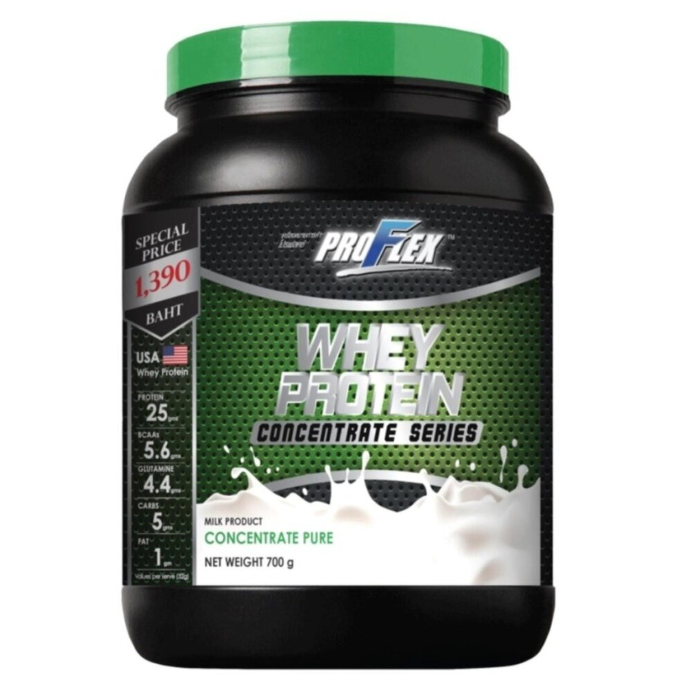 ProFlex Whey Protein Concentrate Pure (700 g.)  อาหารเสริมเพิ่มน้ำหนักและกล้ามเนื้อ อาหารเสริมการออกกำลังกาย วิตามินและอาหารเสริม