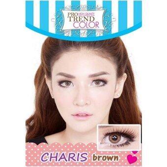 Protrend Color คอนแทคเลนส์ รุ่น Charis Brown ค่าสายตา 0.00
