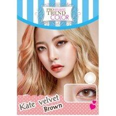 ราคา Protrend Color คอนแทคเลนส์ รุ่น Kate Velvet Brown ค่าสายตา 2 50 ใหม่ ถูก