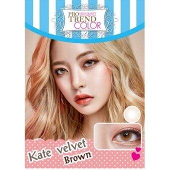 Protrend Color คอนแทคเลนส์ รุ่น Kate Velvet Brown ค่าสายตา -2.50