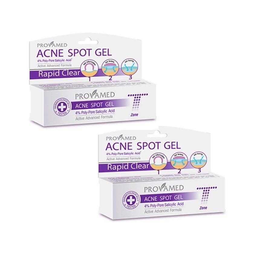 ขายถูกที่สุด Provamed Rapid Clear Acne Spot Gel 10 g.แพ็คคู่ หน้าขาวใส 100%