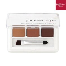 Pure Care Eyebrow & Liner  Kit พาเล็ตตกแต่งคิ้วสวย และเขียนขอบตา ในรูปแบบเนื้อฝุ่น 3 เฉดสี ติดทนนาน.