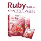 ขาย Pure Med Kito Detox Ruby Collagen 10 000 Mg รูบี้ คอลลาเจน คืนความอ่อนเยาว์ ต่อต้านอนุมูลอิสระ ผิวกระจ่างใส อมชมพู ปกป้องผิวจากแสงแดด ลดเลือนริ้วรอย จุดด่างดำ รูขุมขนกระชับ ผิวเนียนนุ่ม ลื่น เปล่งปลั่ง กระชับ เต่งตึง กรุงเทพมหานคร ถูก