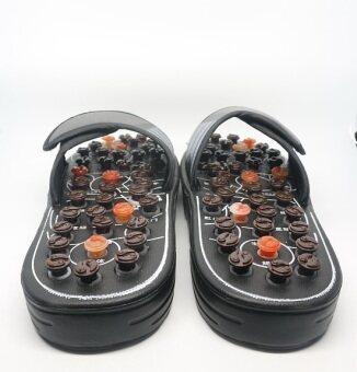 รองเท้านวดกดจุดฝ่าเท้า ขนาด 38-39 (สีดำ)