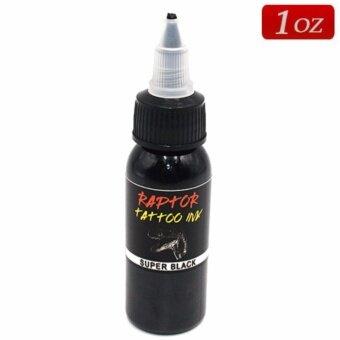 RAPTOR หมึกสักลายสีดำสนิท สีสักลายสีดำเข้มขนาด 1 ออนซ์ SUPER BLACK TATTOO INK (1OZ/29.6ML)