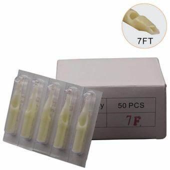 ปลายกระบอกเข็มสัก (แพ็คสุดคุ้ม 50 ชิ้น) ปลายพลาสติกเบอร์ 7FT Disposable Plastic Nozzle Tattoo Needle Tips (50PC)