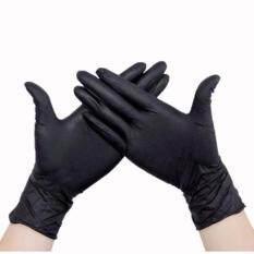 ราคา Raptor ถุงมือยางสำหรับสักสีดำ ไซส์ M กล่อง100ชิ้น ถุงมือไนไตร ถุงมือยางไนไตร Professional Black Nitrile Tattoo Artists Gloves Size M 100Pcs Raptor เป็นต้นฉบับ