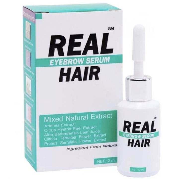 Real Hair เซรั่ม เรียวแฮร์  ปลูกผม หนวด คิ้ว และบำรุง  12ml. 1 ขวด