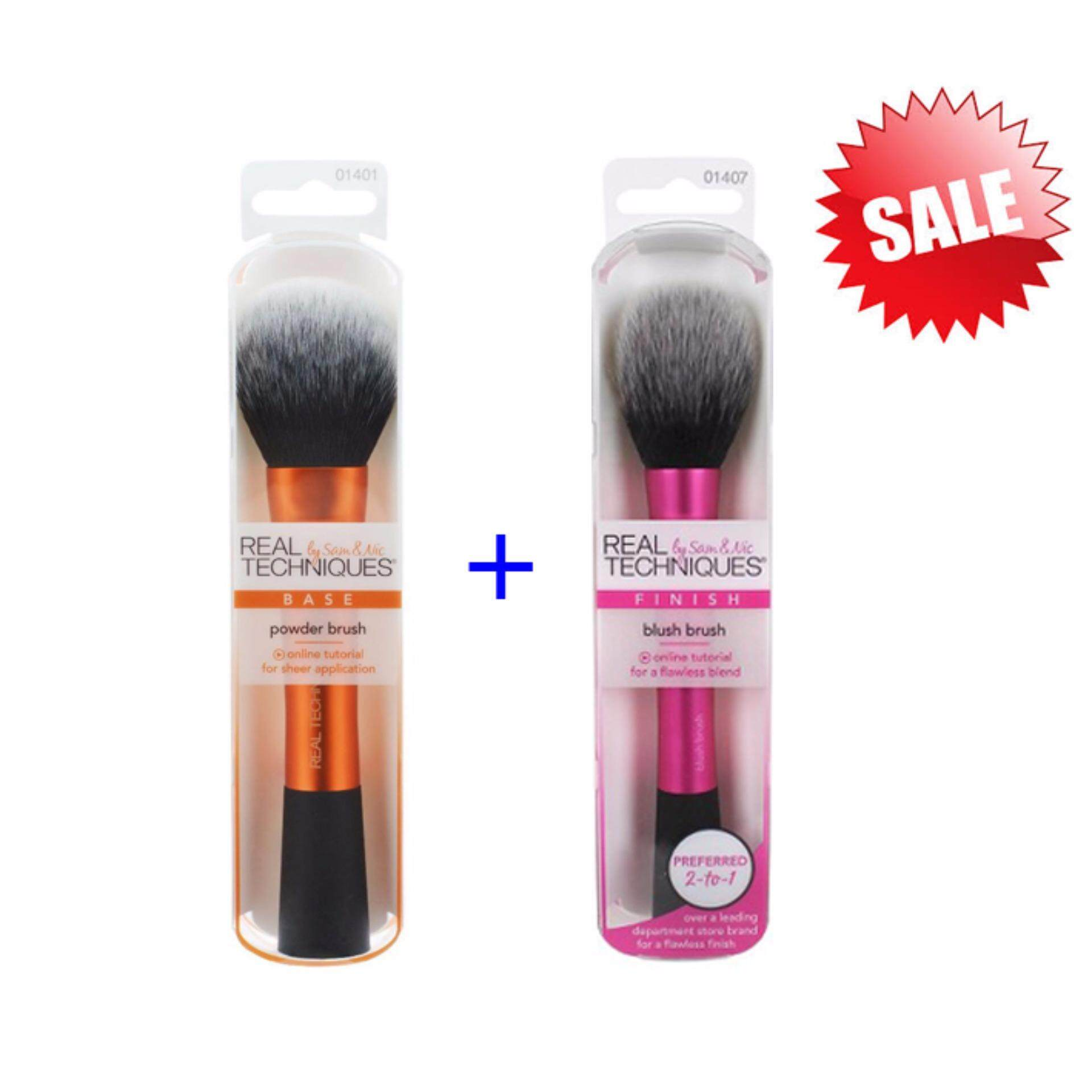 Real Techniques แปรงแต่งหน้า Blush Brush + Powder Brush