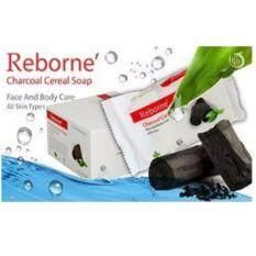 ทบทวน ที่สุด สบู่ชาโคล Reborne Charcoal Cereal Soap