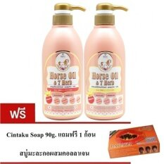 ราคา Remi Shampoo Horse Oil 7 Herb เรมิ แชมพูมหัศจรรย์ น้ำมันม้าฮอกไกโด ลดผมร่วง เร่งผมยาว 400 Ml Remi Treatment 400 Ml 1 ชุด แถมฟรี สบู่cintaku 1ก้อน ไทย