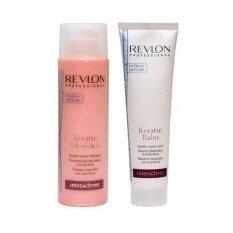ซื้อ Revlon Keratin Shampoo 250Ml Keratin Conditioner Balm Keratin Repair Shampoo For All Damage Hair 150Ml กรุงเทพมหานคร