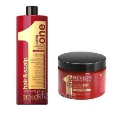 ขาย ซื้อ Revlon Uniq One Conditioning Shampoo 1000Ml Revlon Uniq One Mask 300Ml แชมพูสูตรอ่อนโยนต่อเส้นผมและหนังศีรษะไซด์ Stand ใหญ่สุดคุ้ม พร้อมมาร์ค Uniq One แพคคู่สุดคุ้ม ใน กรุงเทพมหานคร