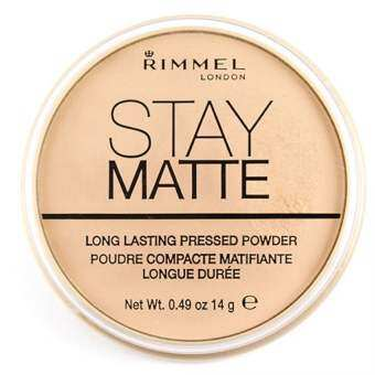 RIMMEL London Stay Matte Long Lasting Pressed Powder No.001 Transparent 14g.