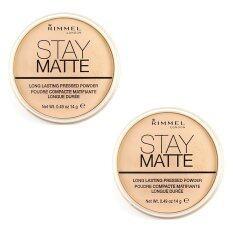 ราคา Rimmel London Stay Matte Long Lasting Pressed Powder No 001 Transparent 14G 2 ตลับ Rimmel เป็นต้นฉบับ