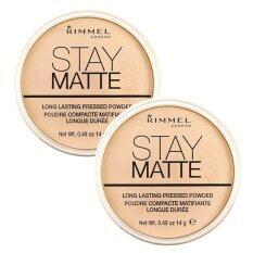 ส่วนลด Rimmel Stay Matte Pressed Powder เนื้อบางเบา สูตรควบคุมความมัน 001Transparent 14G 2 ตลับ Rimmel กรุงเทพมหานคร