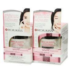 ราคา Rojukiss White Poreless Advanced Repair Day Cream Night Cream 30Ml แพ็ค2ชิ้น Rjk เป็นต้นฉบับ