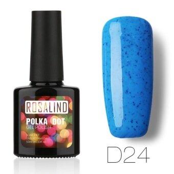 ROSALIND Polka Dot สียาทาเล็บเจล สีขนม สีลูกกวาด สีแคนดี้ Gel Polish Soak Off UV LED (10ml.) #D24