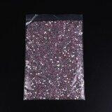 ราคา Round Shiny Rhinestone Acrylic Crystal Nail Art Kit Glitter Makeup Decor Intl ถูก