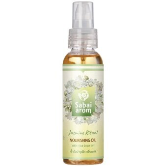 Sabai-Arom Jasmine Ritual Nourishing Oil 100 ml. สบายอารมณ์ จัสมิน ริชวล นูริชชิ่ง ออยล์ น้ำมันบำรุงผิว กลิ่นมะลิ 100 มล.