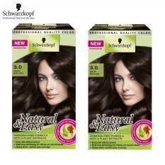ราคา Schwarzkopf Natural Easy ครีมเปลี่ยนสีผมเนเชอรัล แอนด์ อีซี่ สูตรปราศจากแอมโมเนีย No 3 Dark Brown X2 ถูก