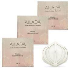 ราคา Sesamin Soap Ailada Soap ไอลดา เซซามิน โซป อุดมไปด้วยสารสกัดเซซามินจากงาดำเพื่อผิวสวยใสอย่างธรรมชาติ ขนาด 100G 1 กล่อง จำนวน 3 กล่อง ที่สุด