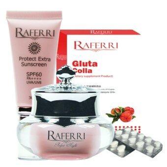 Set R8 Raferri Gluta Colla + Raferri กันแดด + Raferri ไนท์ครีม
