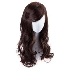 ส่วนลด สินค้า S*xy Women 65Cm Heat Resistant Side Bangs Long Wavy Hair Wigs Natural Black Brown Intl