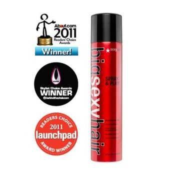 Sexyhair spray &Play volumizing hair spray 300ml สเปรย์เซตทรงให้อยู่ตัวไม่เหนียว ไม่แข็ง ไม่เหม็นแอล-