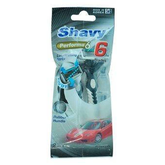 Shavy ด้ามมีดโกนเพอฟอร์มา 6 ใบมีด (2 ด้าม)
